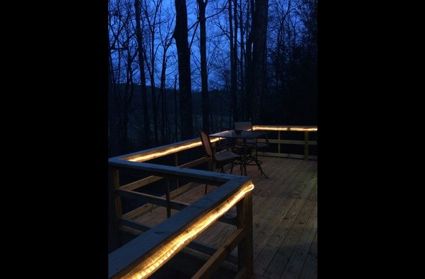 Lighted back deck